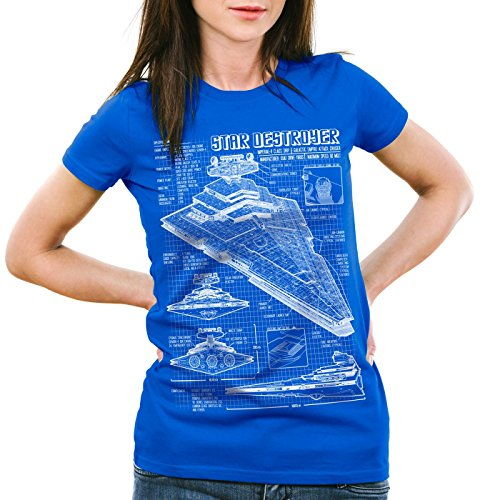 A.N.T. Destroyer Stellaire T-Shirt Femme dessin bleu empire Bleu