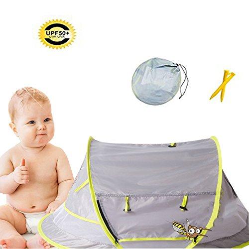 Mosquito Net Baby Travel Cama cuna plegable portátil plegable, SPF50 +, protección UV, alta densidad, ropa de cama infantil accesorios verano NUEVO- 108 × 65 × 50cm