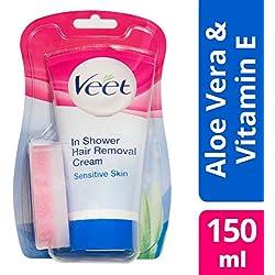 Veet Crème Dépilatoire sous la Douche - Peaux Sensibles - 150 ml