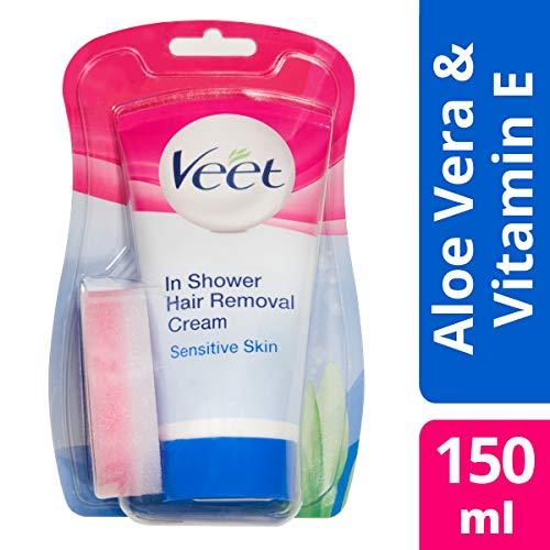 Veet Enthaarungscreme unter der Dusche, empfindliche Haut -