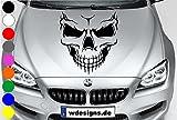 wDesigns Autoaufkleber Totenkopf Skelett Skull Aufkleber Motorhaube Angry Heckscheibe BMW