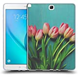 Official Olivia Joy StClaire Pink Tulips On The Table Soft Gel Case for Samsung Galaxy Tab A 9.7