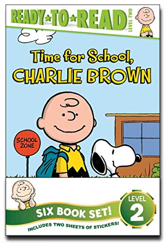 Peanuts Ready-to-Read Value Pack: Time for School, Charlie Brown; Make a Trade, Charlie Brown!; Lucy Knows Best; Linus Gets Glasses; Snoopy and Woodstock; Snoopy, First Beagle on the Moon!