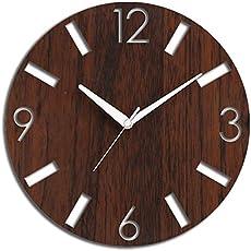 Studio Shubham Decorative Numbers Wooden Wall Clock(26.5X26.5X3CM)