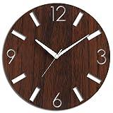 #7: Studio Shubham Decorative Numbers Wooden Wall Clock(26.5X26.5X3CM)