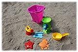 Eimergarnitur Burg 7-tlg., Sandspielzeug, Kinderspielzeug für draußen