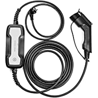 LEFANEV 10/16A Conmutable Tipo 1 (SAE J1772) Portátil Electrico Cargadores de Batería para Coche( EV Cargador ) (2.2kw / 3.68kw, 10 / 16A) (Schuko, Type 1 (SAE J1772))