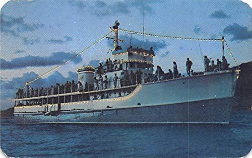 Military Battleship Postcard, Old Vintage Antique Military Ship Post Card The Sea Cloud Yacht, Acapulco Bay at Night 1965 (Acapulco Bay)