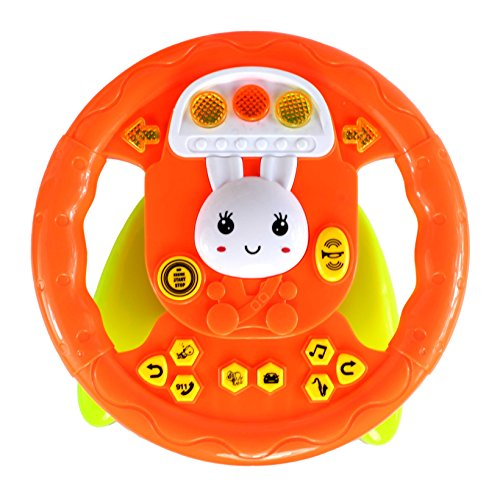 Planet Of Toys High Chair Educational Steering Wheel (Lights & Music)