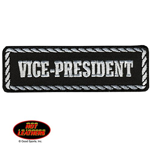 vice-president-black-white-high-quality-iron-on-saw-on-heat-sealed-backing-rayon-patch-4-x-1