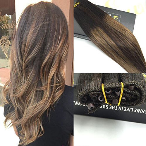 Sunny eze weft extensions 12 with 50gram brown lowlight micro sunny eze weft extensions 12 with 50gram brown lowlight micro beads remy human hair extensions 18 inches amazon beauty pmusecretfo Image collections