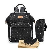 Sac à langer étanche Sac à dos multifonction Grande capacité Sac à dos de voyage Organiseur avec 1 matelas à langer et 1 sac...