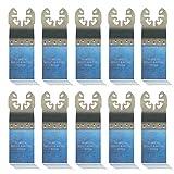 10x Sägeblatt Universal, 32mm BiM für Bosch GOP 10,8 V-LI