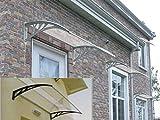 Haustür-Vordach, Überdachung, Vordach aus Kunststoff, transparent, 100x120 cm