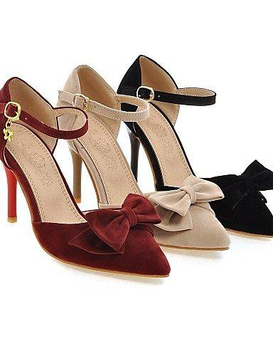 LFNLYX Scarpe Donna-Sandali / Scarpe col tacco-Tempo libero / Serata e festa-Tacchi / D'Orsay / A punta-A stiletto-Microfibra-Nero / Rosso / beige