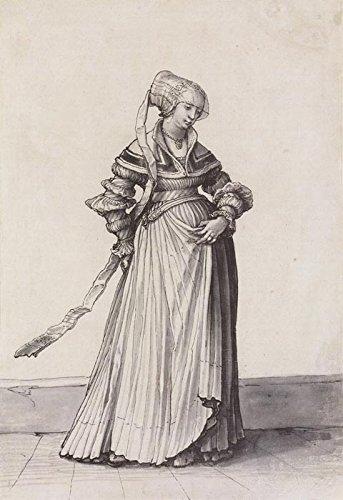 Das Museum Outlet-Basel Frau nach rechts gedreht. Kostüm study. c.1523-A3Poster