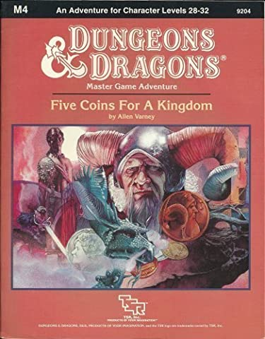 Five Coins for a Kingdom (Dungeons & Dragons Module M4) by Allen Varney (1987-06-03) (Kingdom Modul)