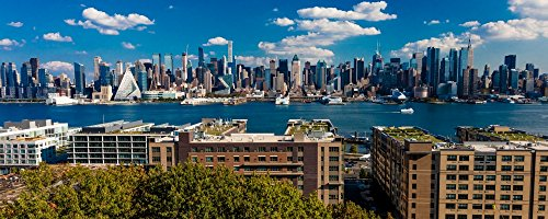 The Poster Corp Panoramic Images - New York City Skyline as seen from Pallisades Avenue New Jersey Kunstdruck (15,24 x 38,10 cm)