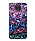 PrintVisa Designer Back Case Cover for Motorola Moto C Plus (Abstract Illustration Colorful Decorative Graphic Attractive Vector )