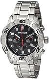 Wenger 010853102 - Reloj de pulsera hombre, acero inoxidable, color plateado