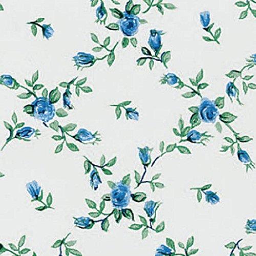 Klebefolie Möbelfolie - Rombo Biedermeier Blumen blau 45 cm x 15 Meter