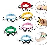 DQTYE Lot de 6 bracelets en nylon pour bébé avec sonnette de poignet et de grelots multicolores et rythmes musicaux pour enfants