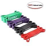 Femor Resistance Band Set Fitnessbänder Klimmzugband aus Naturlatex Widerstandsband Pull-Up Bänder für Krafttraining, Bodybuilding, Powerlifting & Fitness in 4 Stärken
