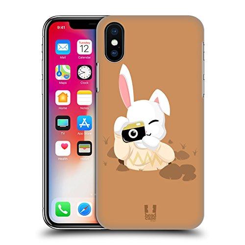 Head Case Designs Panda Kawaii Fauna Hipsters Cover Retro Rigida per Apple iPhone X Coniglio