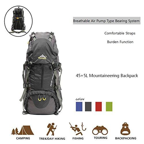 Trekking Zaini da Escursionismo (più di 50 L) Nylon Impermeabile/ Antiusura/Resistenza alla rottura,30*20*60cm — OUTERDO