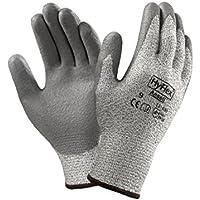 Ansell HyFlex 11-630-Guanti di protezione contro tagli, escoriazioni, protezione meccanico, colore: grigio (Confezione da 12 paia)