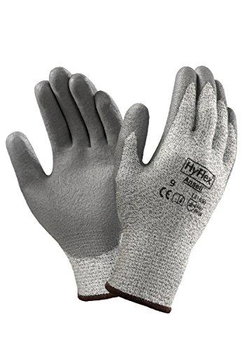 Ansell Hyflex 11-630 Guanto di Protezione Contro il Taglio, Protezione Meccanica, Grigio, Taglia 10 (Sacchetto di 12 Paia)