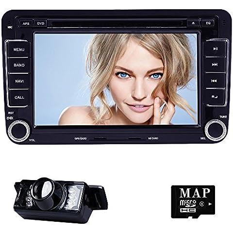 Navihouse Lettore DVD navigatore GPS Radio Stereo auto autoradio per Volkswagen VW Passat Cam
