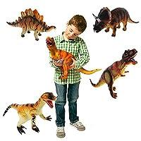 KandyToys 36cm Large Soft Foam Rubber Stuffed Dinosaur Play Toy Animals Action Figures