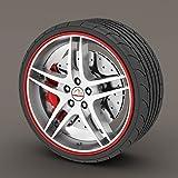 Rimblades Anello protettivo modellante per cerchioni dei pneumatici, originale, per Ford Fiesta colore: rosso