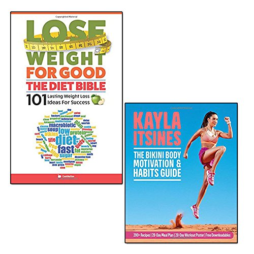 bikini body motivation and habits guide and lose weight for good 2 books collection set - the diet bible: 101 lasting weight loss ideas for success