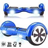 Magic Vida 6.5'' Self Balance Scooter Bluetooth Blau UL2272 Elektroroller Elektroscotter E-Balance E-Skateboard mit Tasche Fernbedienung (Blau)