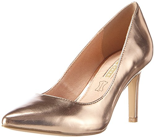 Buffalo H733-C002A-4 P2128H Metallic PU, Damen Pumps, Gold (Rose 23), 39 EU