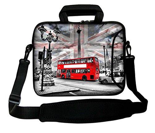Luxburg Schultertasche Notebooktasche Laptoptasche Tasche mit Tragegurt aus Neopren für Laptop/Notebook Computer 10,2 Zoll -