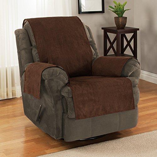 Protector Furniture Fresh para sillones y sofás, antideslizante, con correas y resistente al agua, chocolate, Recliner