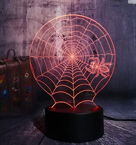 zene Led Nachtlicht Cobweb Spinnennetz Net Schreibtischlampe Horror Wohnkultur Kind Weihnachtsgeschenk ()