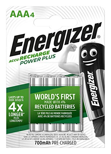 Piles AAA rechargeables Energizer Recharge Power Plus, pack de 4
