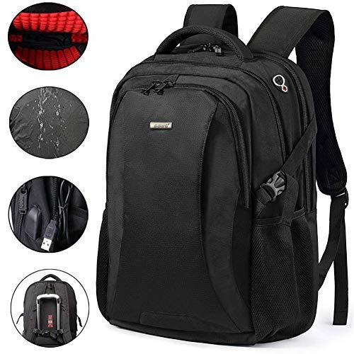 FreeBiz Rucksack für Damen Herren Studenten Geschäftsreisen für Laptop Computer Notebook mit bis zu 18,4 Zoll inklusive USB-Ladeanschluss stoßfest Regenschutz TSA