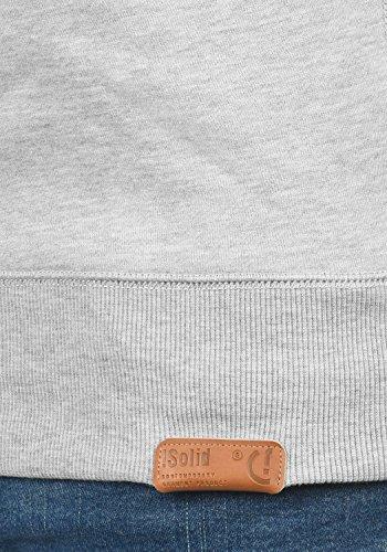 SOLID TripTroyer Herren Sweatshirt Pullover Sweater mit Stehkragen aus hochwertiger Baumwollmischung Light Grey Melange (8242)