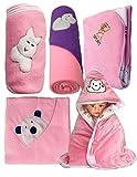 #10: My NewBorn Baby Fleece Blanket Gift Set (Pink, 0-9 Months) - Set of 5