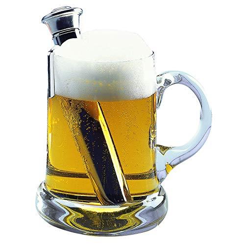 Westmark Bierwärmer mit Halter, Länge: 16 cm, Rostfreier Edelstahl, Silber, 63282260