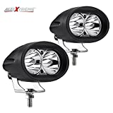 #2: AllExtreme 20 Watt 3000Lm Cree Led Smd Projector Auxiliary Amber Spot Led Off Road Driving Lights Led Fog Lights Jeep Accessory Lighting - White(Pack of 2)