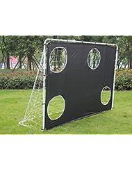 Iunnds 3en 12,1m Cadre en acier robuste Portable Football/Soccer tourner des objectifs et filet