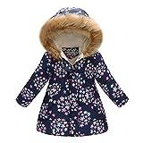 Beikoard_Babykleidung Jacke Parka Kleinkind Baby Floral Butterfly Winter Warme Jacke Mit Kapuze Windproof Coat Warm Baumwollkleidung