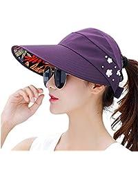 Gorras Sombrero De Verano Protección UV Tapas De Visera De Clásico Playa  Sombras De Visera Ancha 544cb0d0348