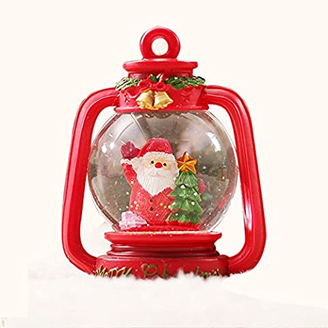 Crystal Ball Lanterna di Natale musica creativa Home Furnishings Retro Music Box